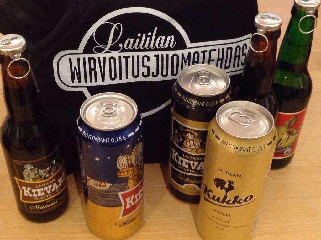Kyllä kelpaa maistella Laitilan Wirvoitusjuomatehtaan oluita