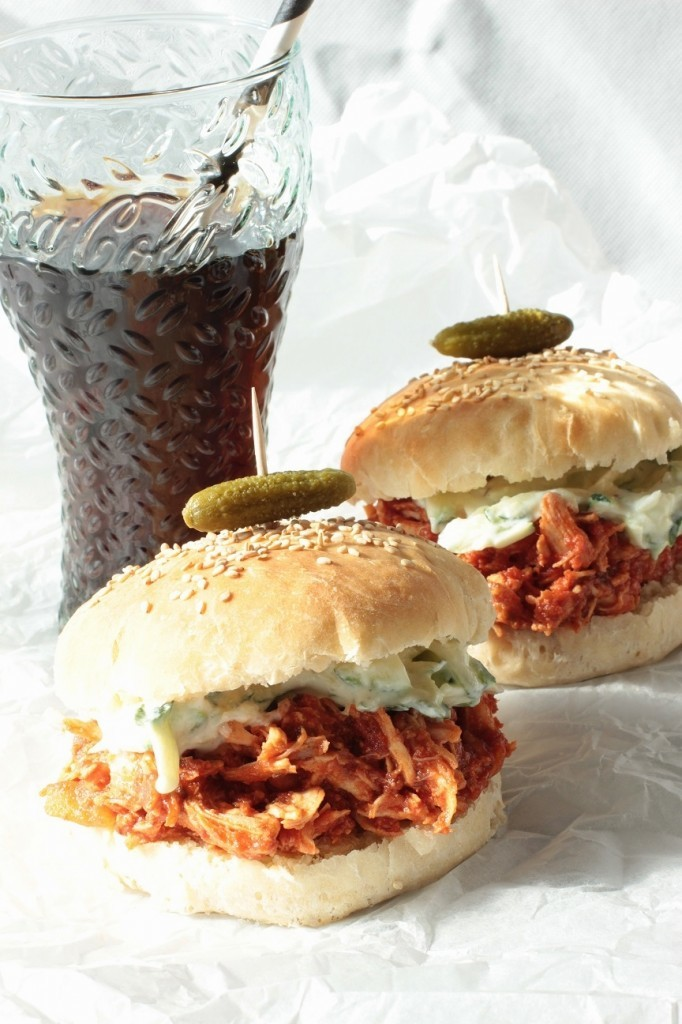 Pulled Chicken Burgers