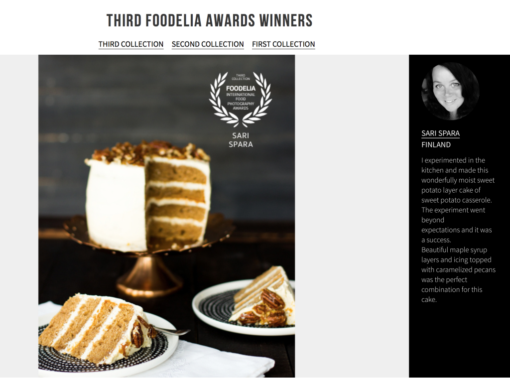 Sari Spåra Award Winner, Foodelia Food Photography Awards 2
