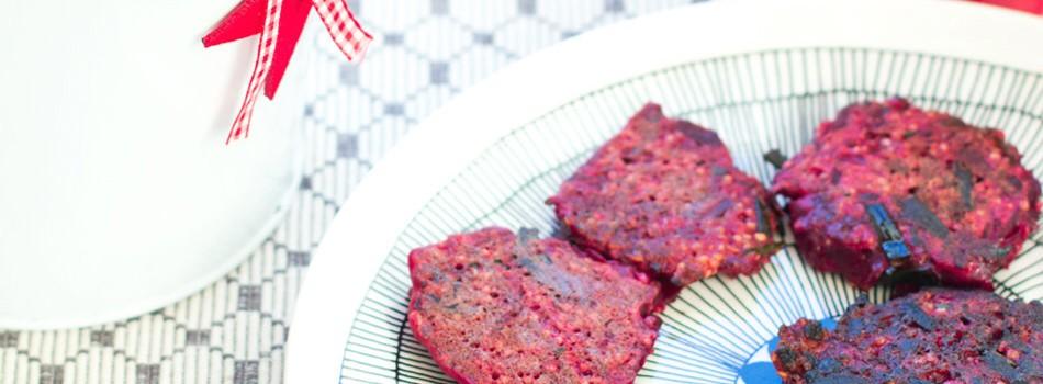 Kvinoa-punajuuripihvit