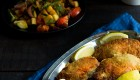 Shish taouk tortillasalaatilla