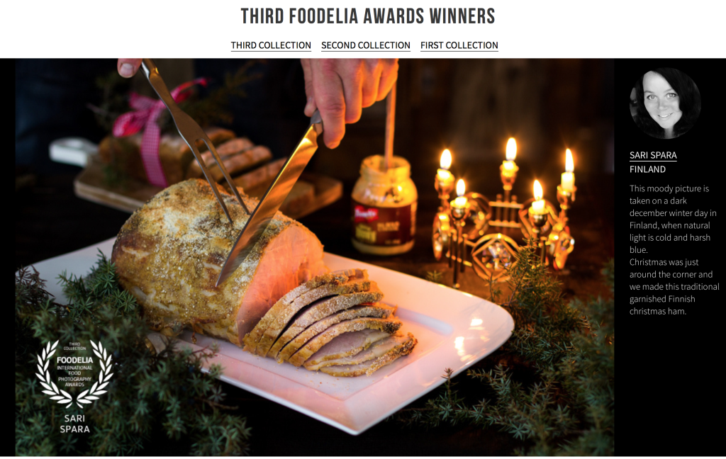 Sari Spåra Award Winner, Foodelia Food Photography Awards 1